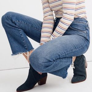 Madewell high rise flare jeans
